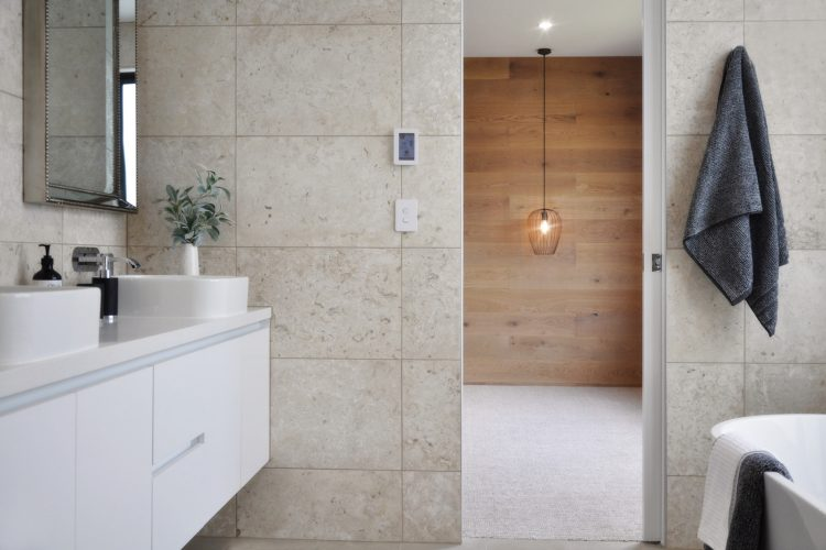 Ensuite at Belvedere Road home in Somers