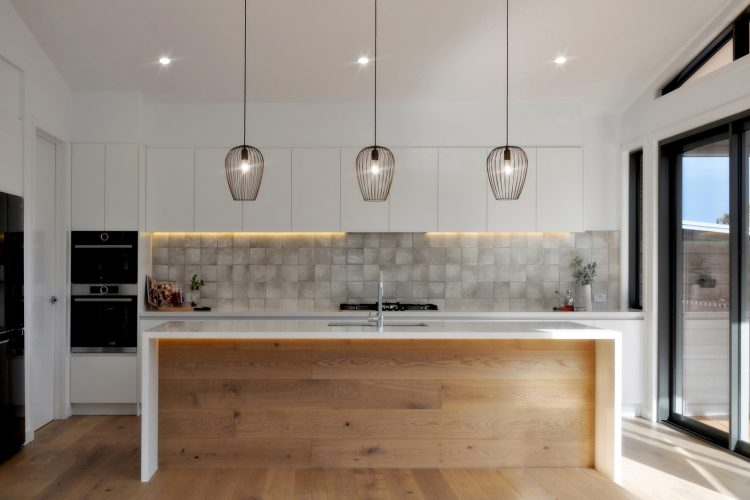 Kitchen design at Belvedere Road home in Somers