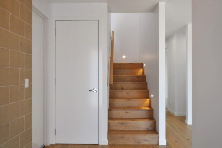 Stairwell at Belvedere Road home in Somers