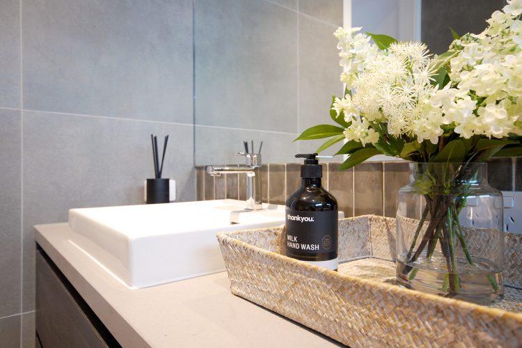 Bathroom vanity at Carnoustie Rd townhouse, Mornington