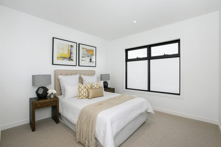 Bedroom at Carnoustie Rd townhouse, Mornington