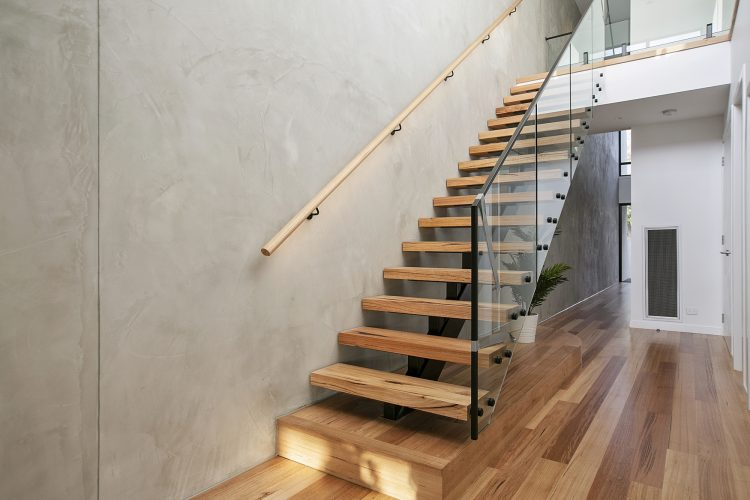 Stairwell at Carnoustie Rd townhouse, Mornington