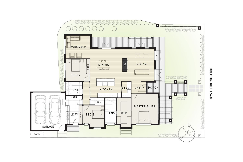 76 Beleura Hill Road Mornington floor plan - Floor Plan