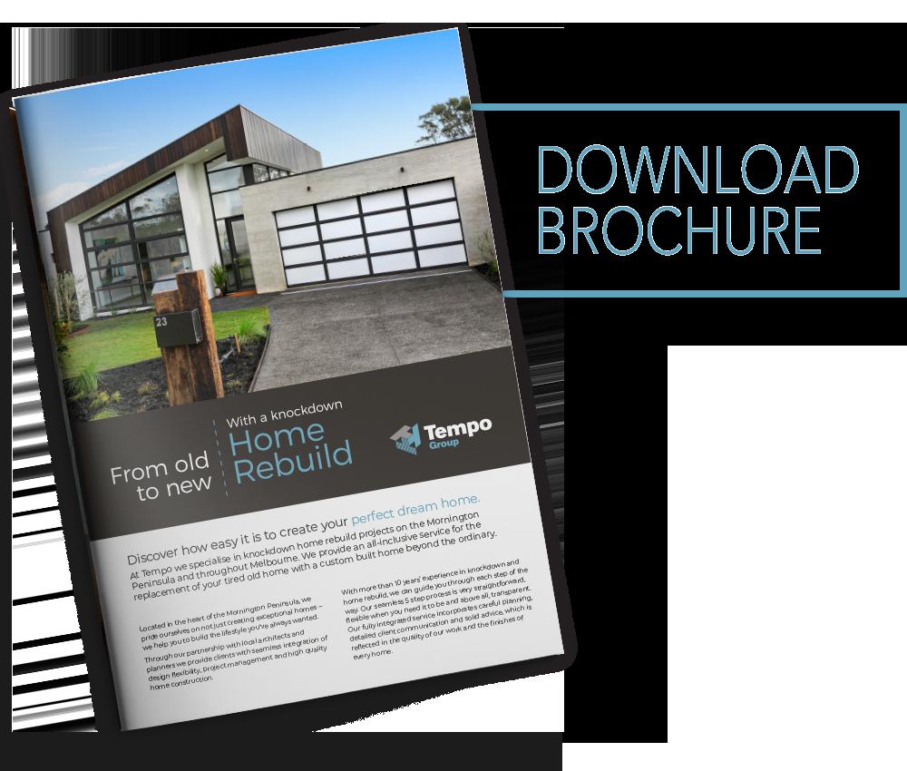Tempo Group Knockdown Rebuild Brochure